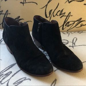 Sam Edelman suede leather black booties Size 7
